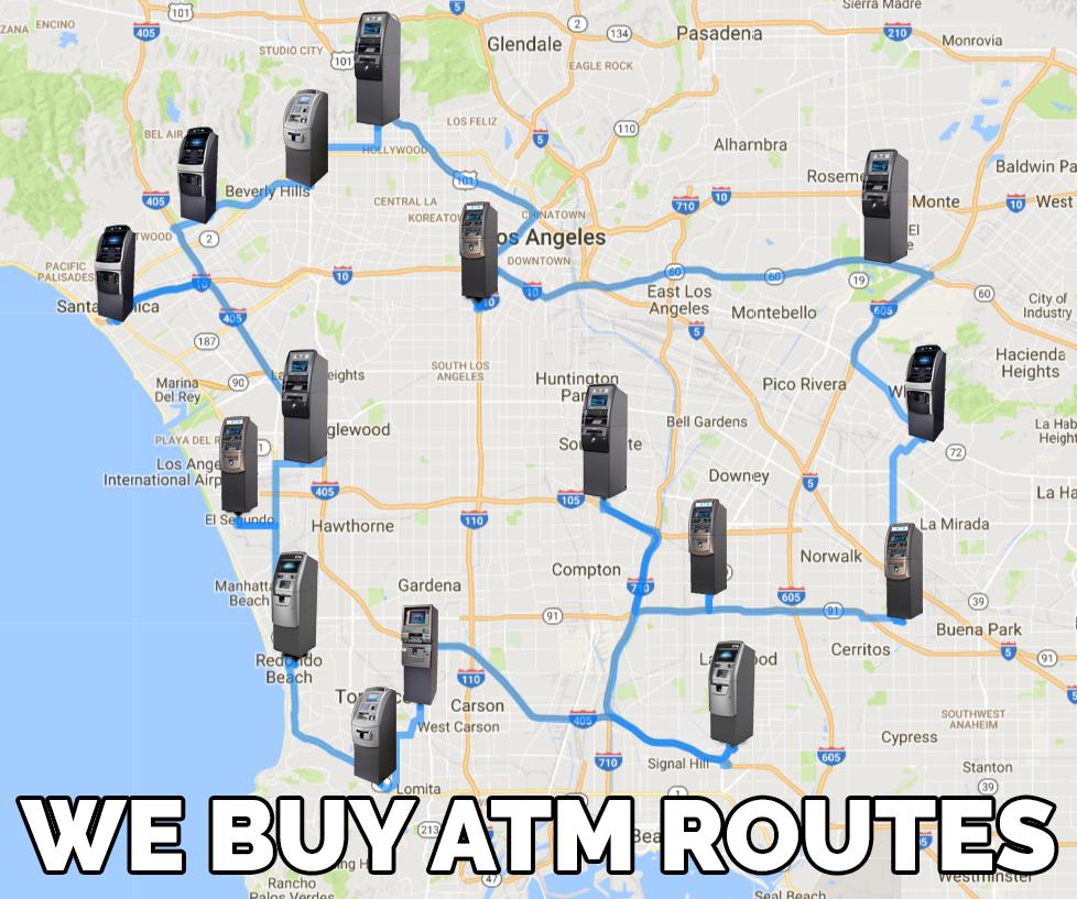 Map of ATM machine route portfolio
