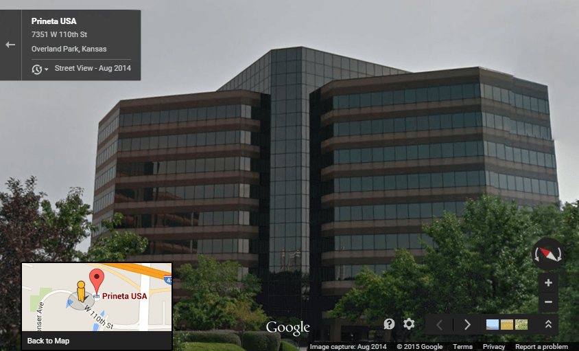 Prineta USA Main Office Building Google Street View Image