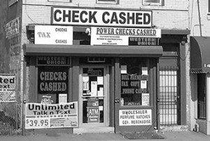 check cashing store outside front
