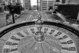 roulette wheel in a casino