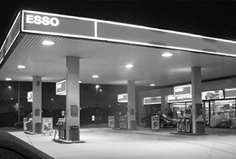 esso gas station convenience store outside