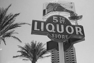 liquor store sign outdoors