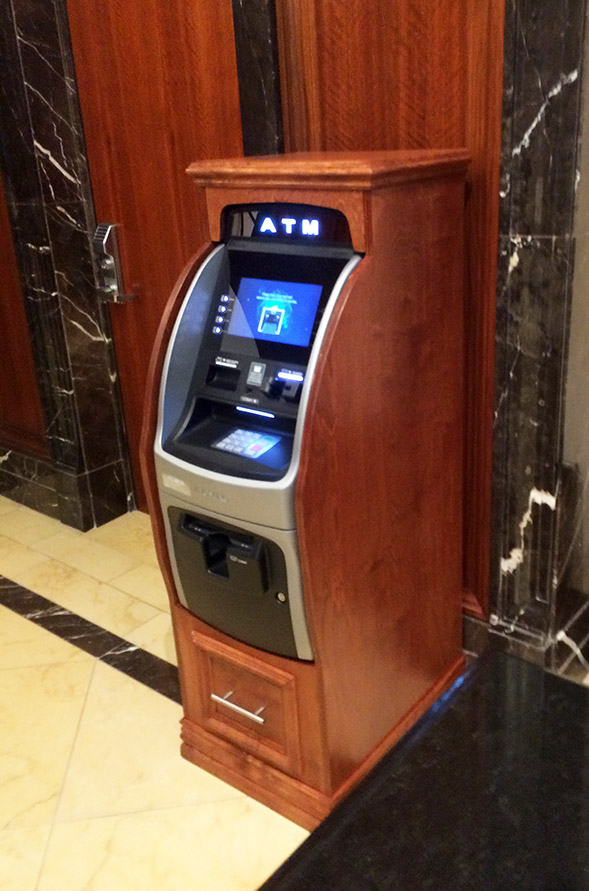 Custom Wooden ATM Machine Cabinets and Wraps