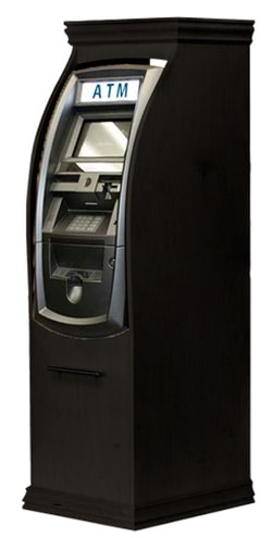genmega 2500 atm machine in black wood cabinet