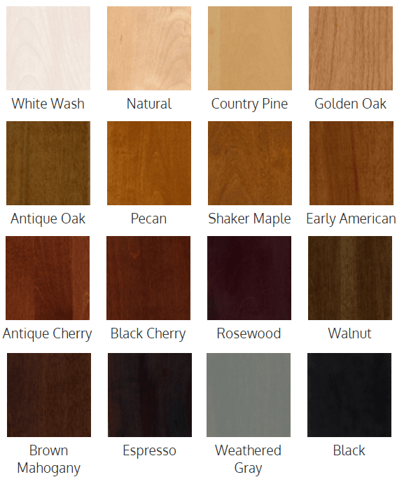 ATM Wooden Cabinet Finish Stain Color Samples