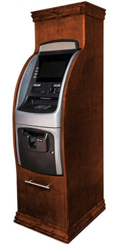 hyosung 2700 atm machine with wood cabinet