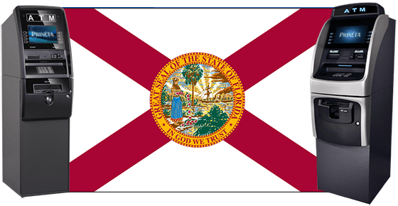 florida atm company atm services for miami fort lauderdale palm beach orlando tampa fort myers flag with atm machines