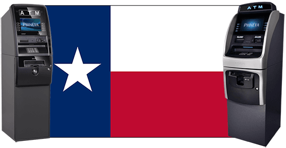 Texas Flag with two ATM machines