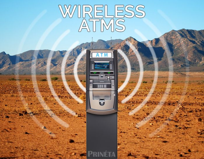 ATM machine wireless services