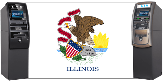 ATMs with Illinois Flag
