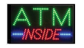 atm inside animated led window sign blue green red