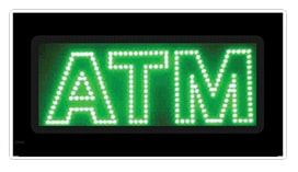 green atm led animated window sign