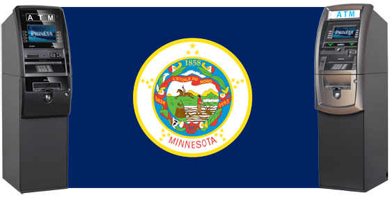 Minnesota Flag with ATM Machines