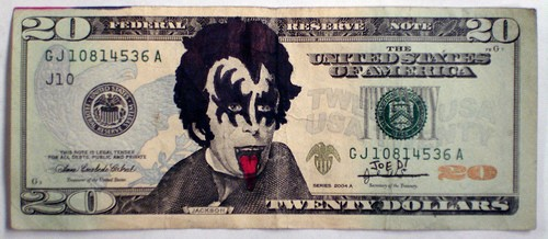 defaced sharpie twenty dollar bill andrew jackson Kiss