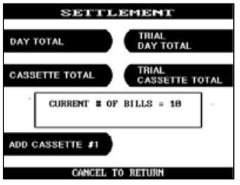 hyosung atm settlement screen