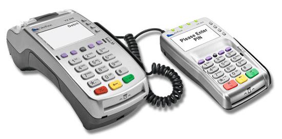 VX520 Terminal and VX805 Pinpad