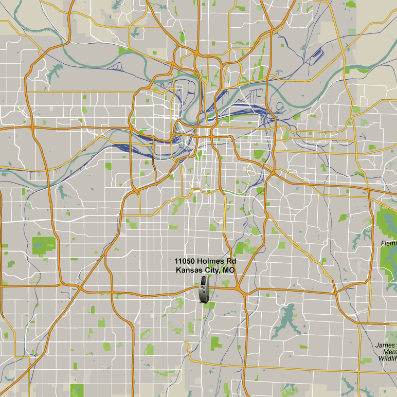 Map of Bitcoin ATM location in Kansas City