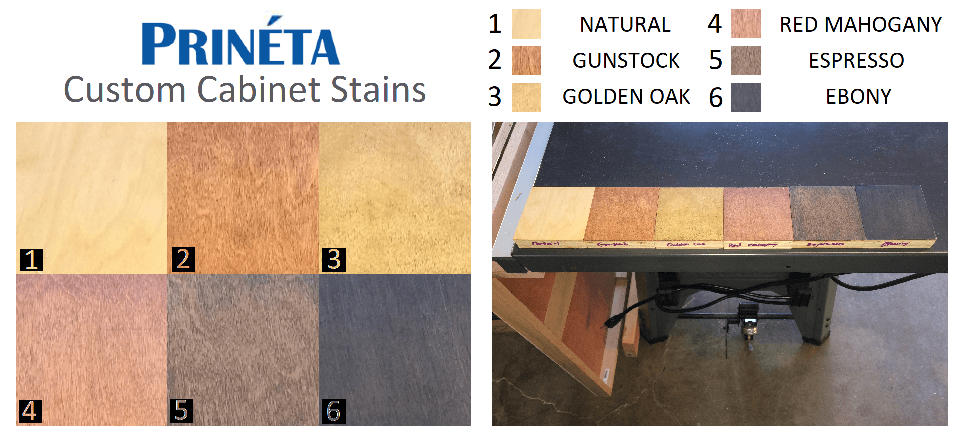 atm cabinet stain color options