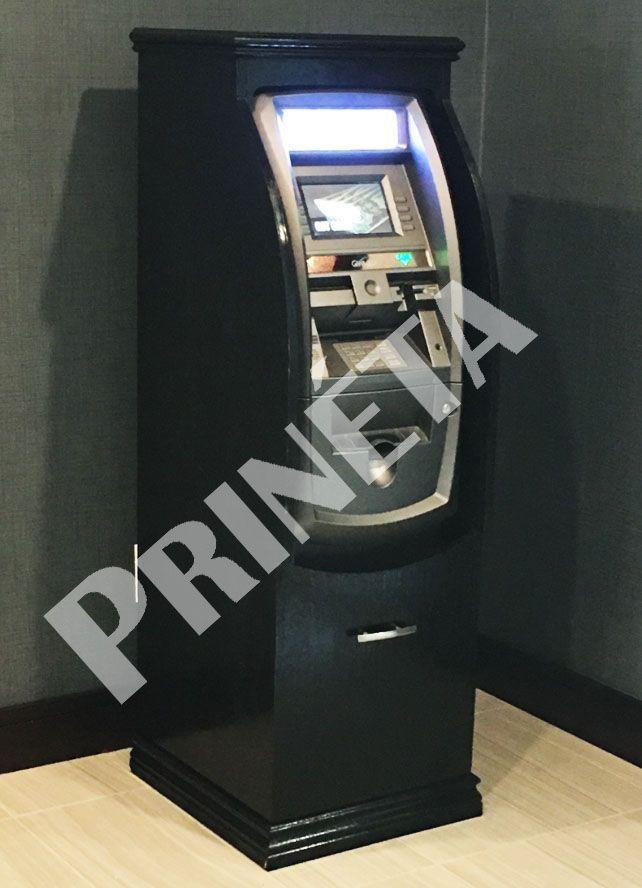 GenMega 2500 ATM with Black Wooden Cabinet