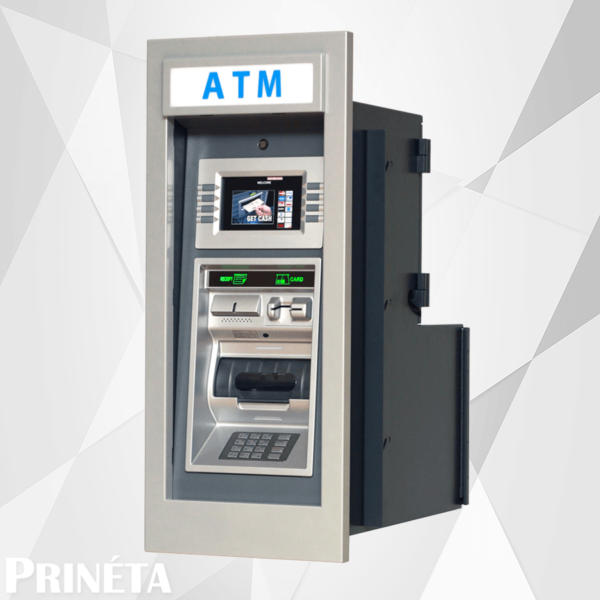 Stock image of genmega Gt-3000 through the wall ATM machine