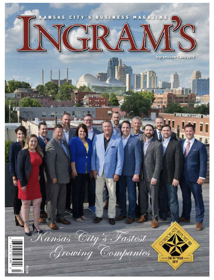 Magazine Cover Kansas City Ingram's Business Magazine